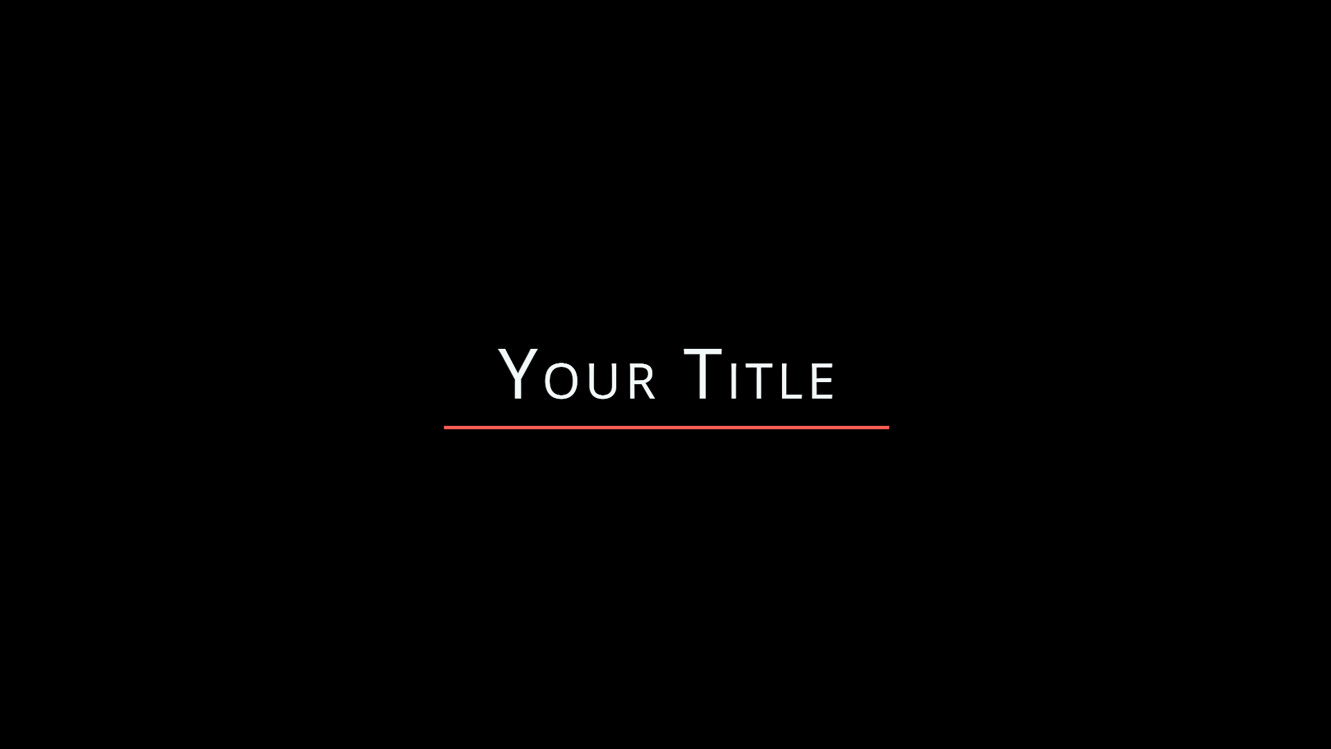 Horizontal Stretch Title - Motion Graphics Template