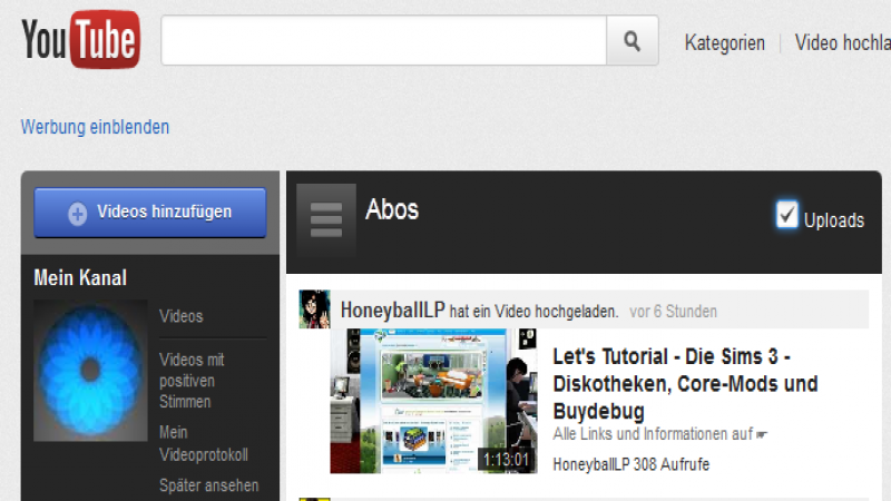 Updates für das YouTube Design