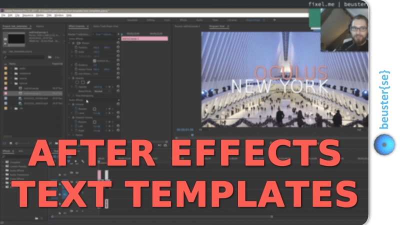 After Effects Text in Premiere Pro bearbeiten - Adobe Text Templates