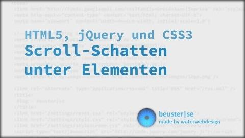 Scroll Schatten mit jQuery